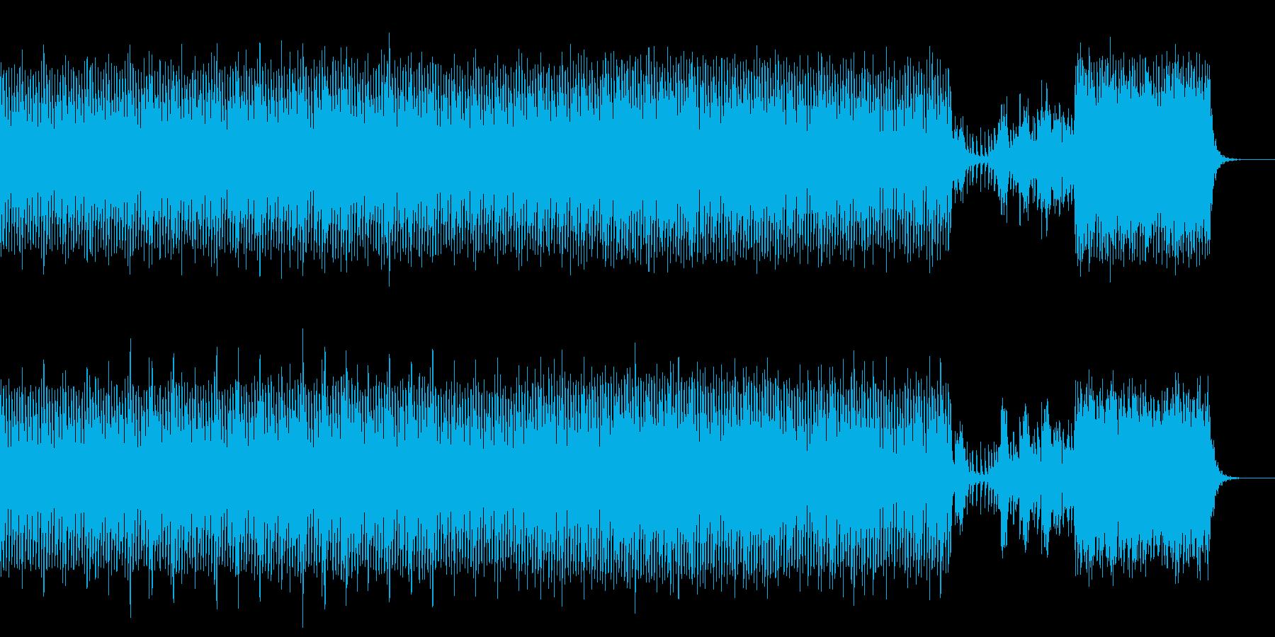 緊張感のあるテクノハウスの再生済みの波形