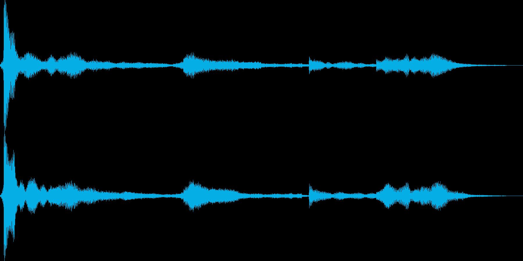 鍵を落とすの再生済みの波形