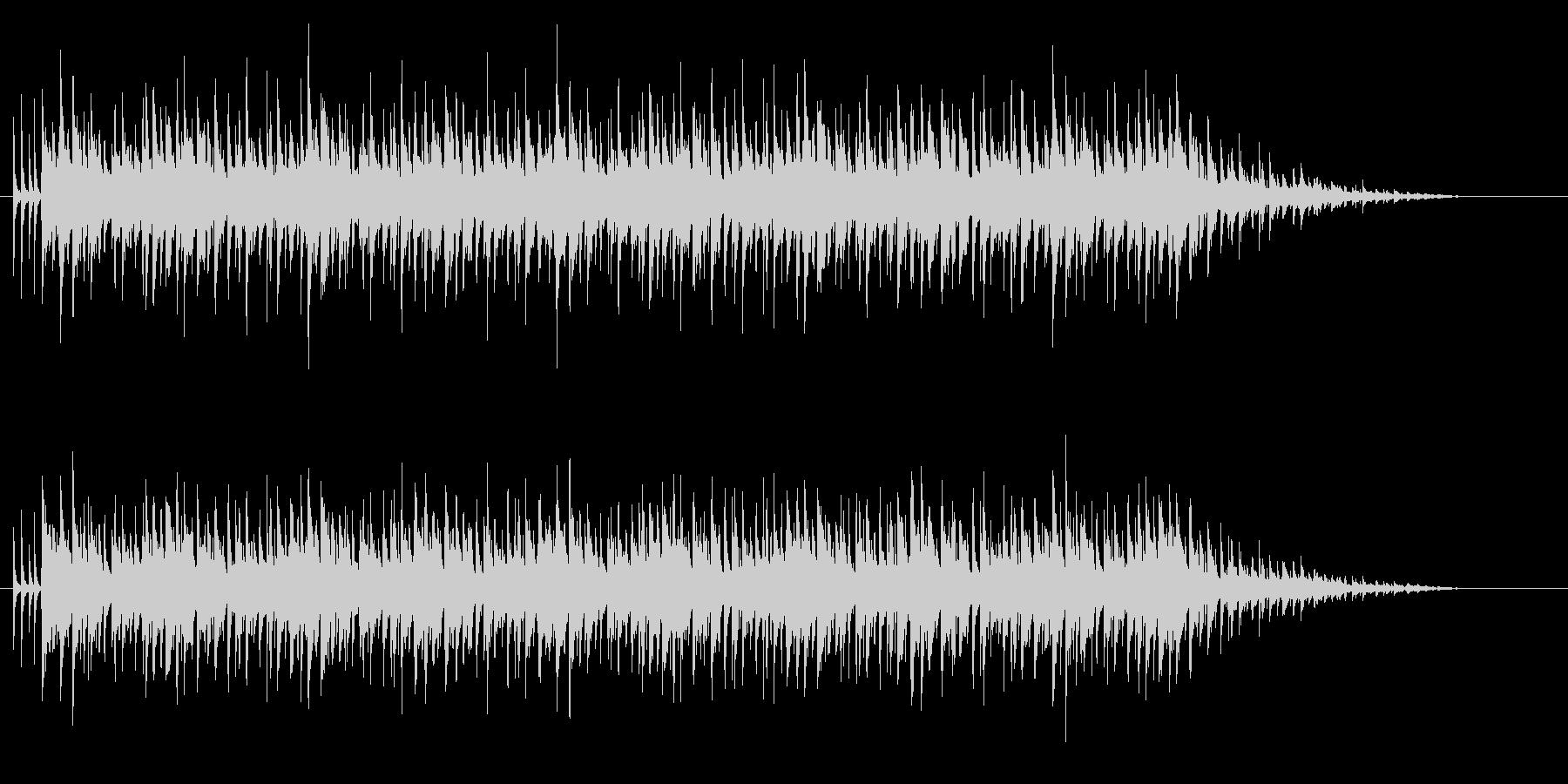 シンセによる大人なシャッフルの未再生の波形