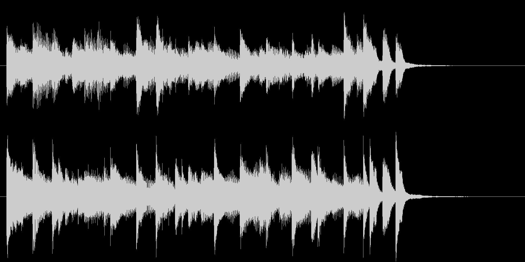 ラジオ体操風ピアノサウンドロゴ10秒の未再生の波形
