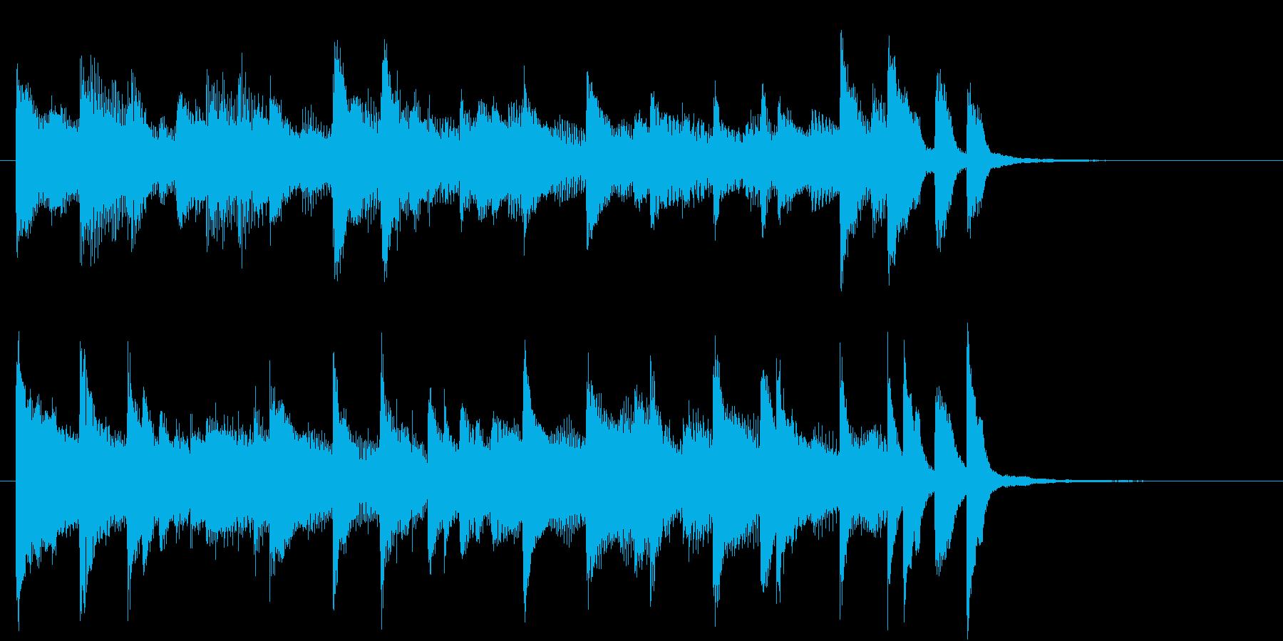 ラジオ体操風ピアノサウンドロゴ10秒の再生済みの波形