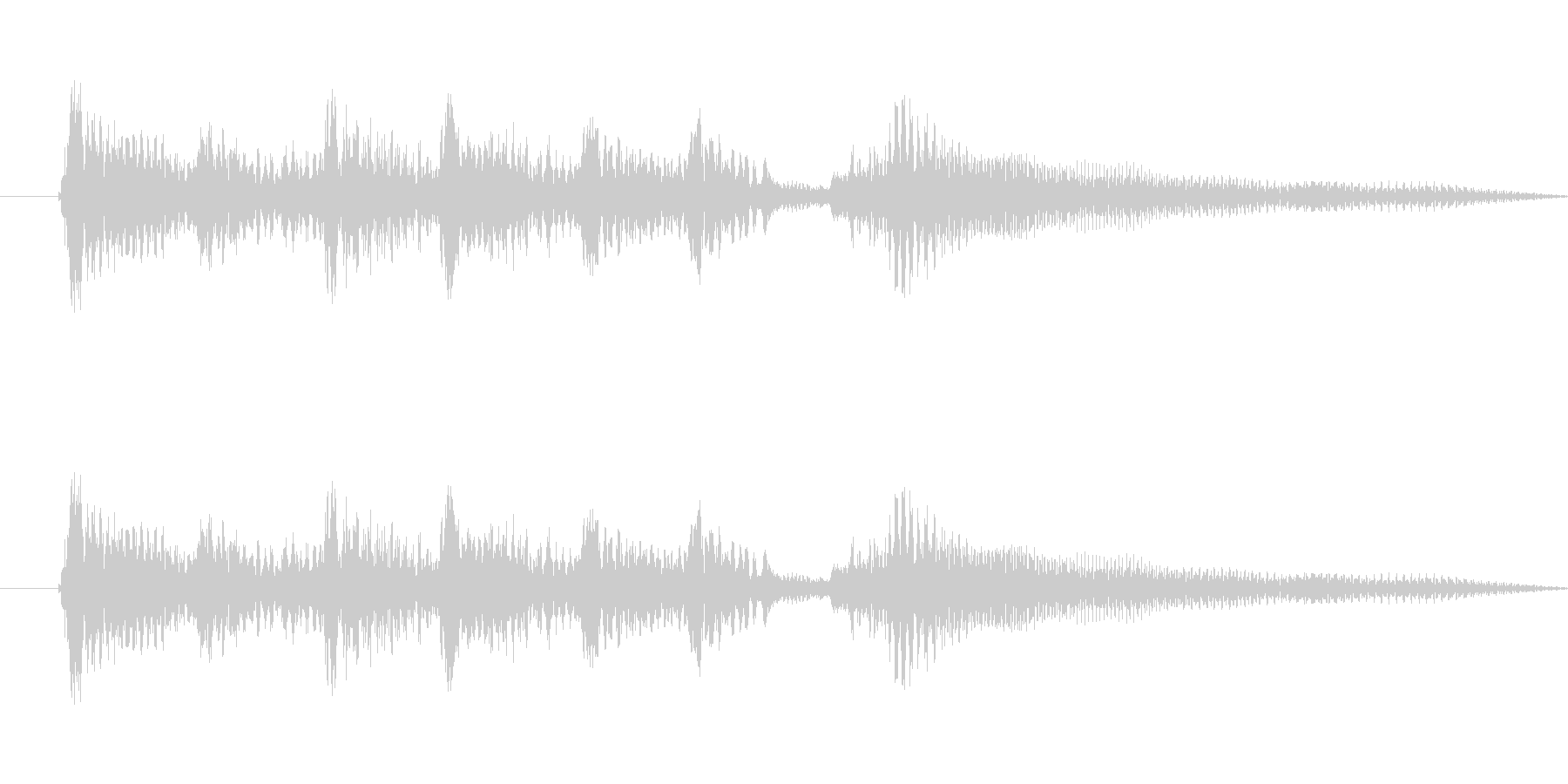 アコーステックギター5sの未再生の波形