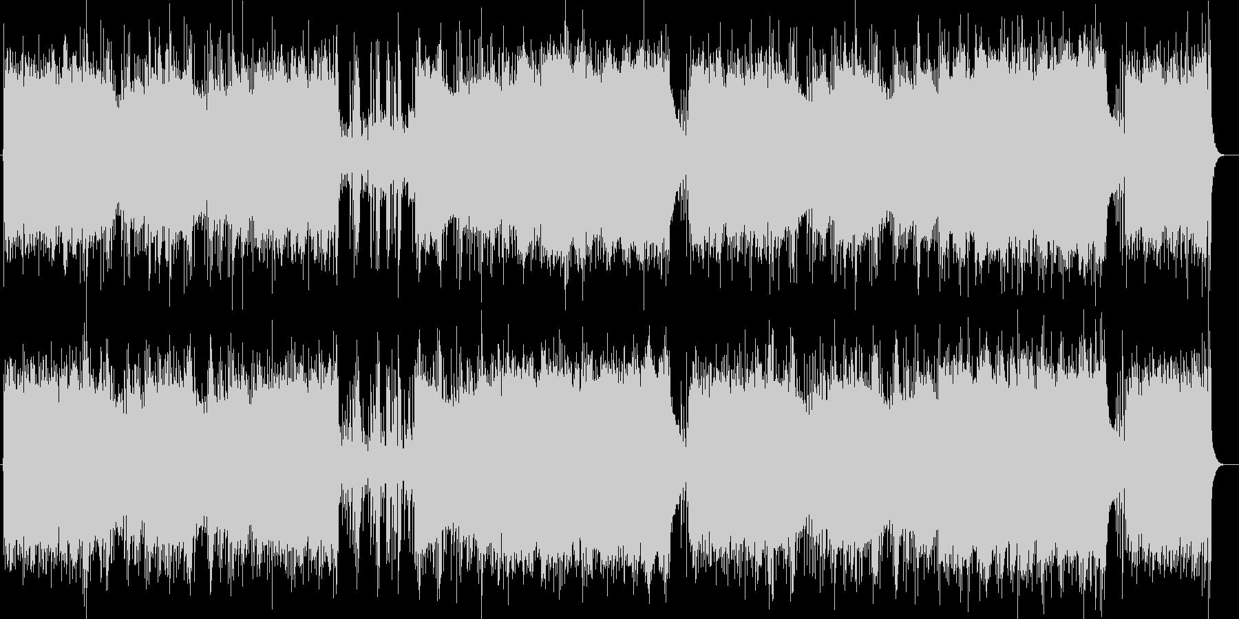 温かみのあるリラクゼーションミュージックの未再生の波形