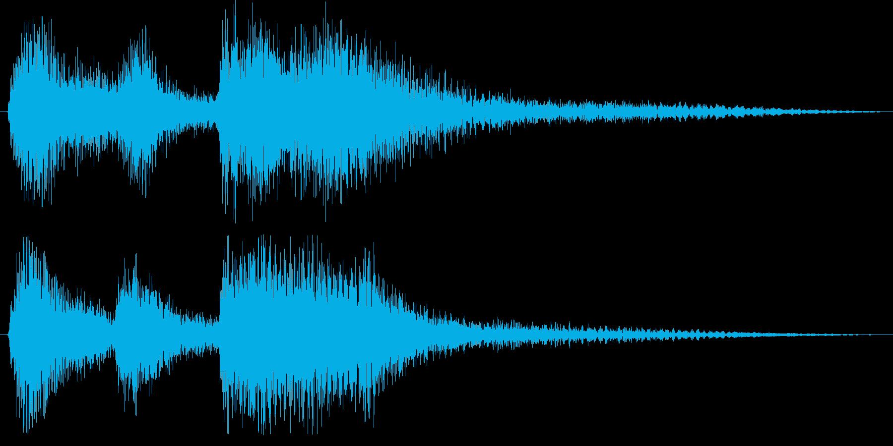 クラシックなイベント達成音ジングル6の再生済みの波形