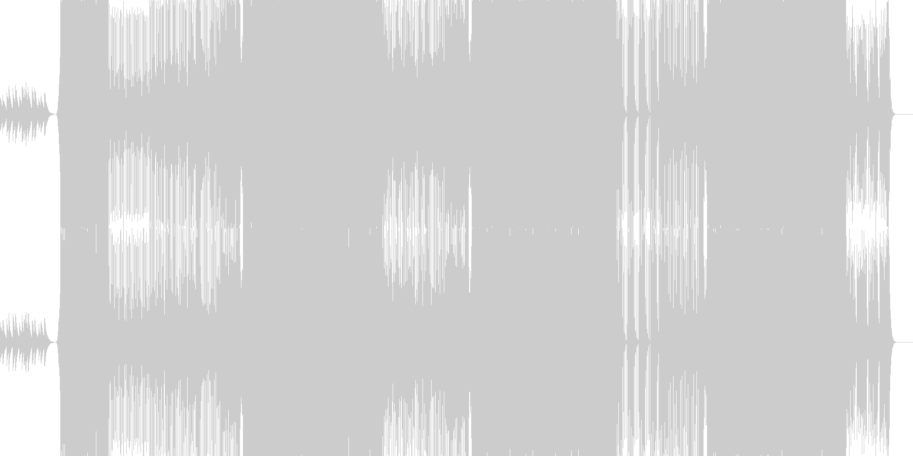 歌ものエレクトロインストの未再生の波形
