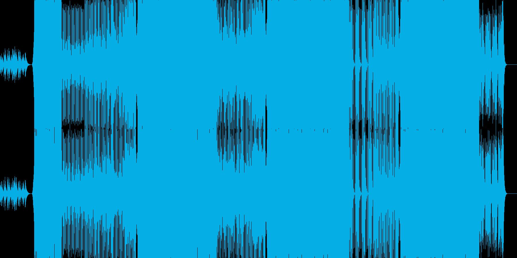 歌ものエレクトロインストの再生済みの波形