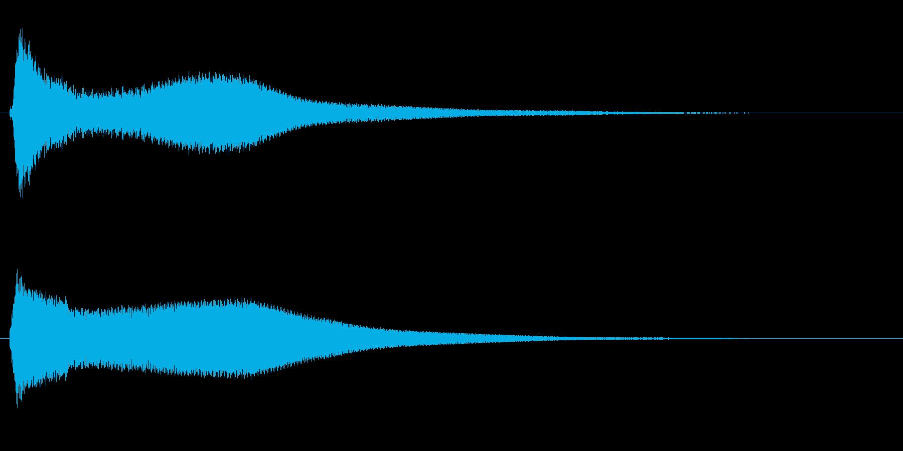 グラスを叩く音(高音)の再生済みの波形
