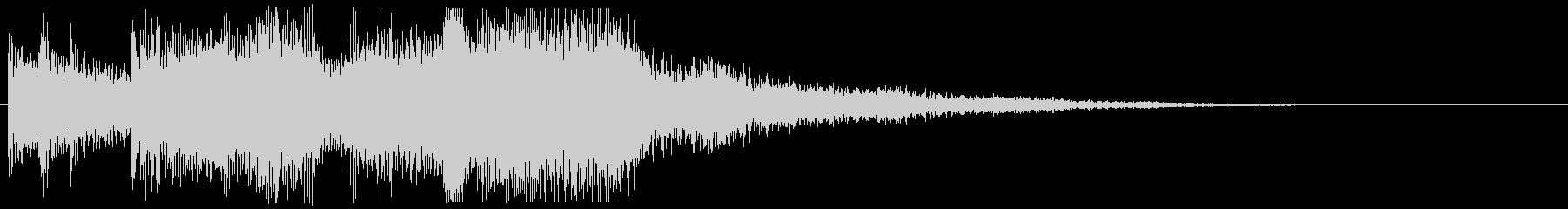 5秒以内 CMイン 勇ましい場面転換音の未再生の波形