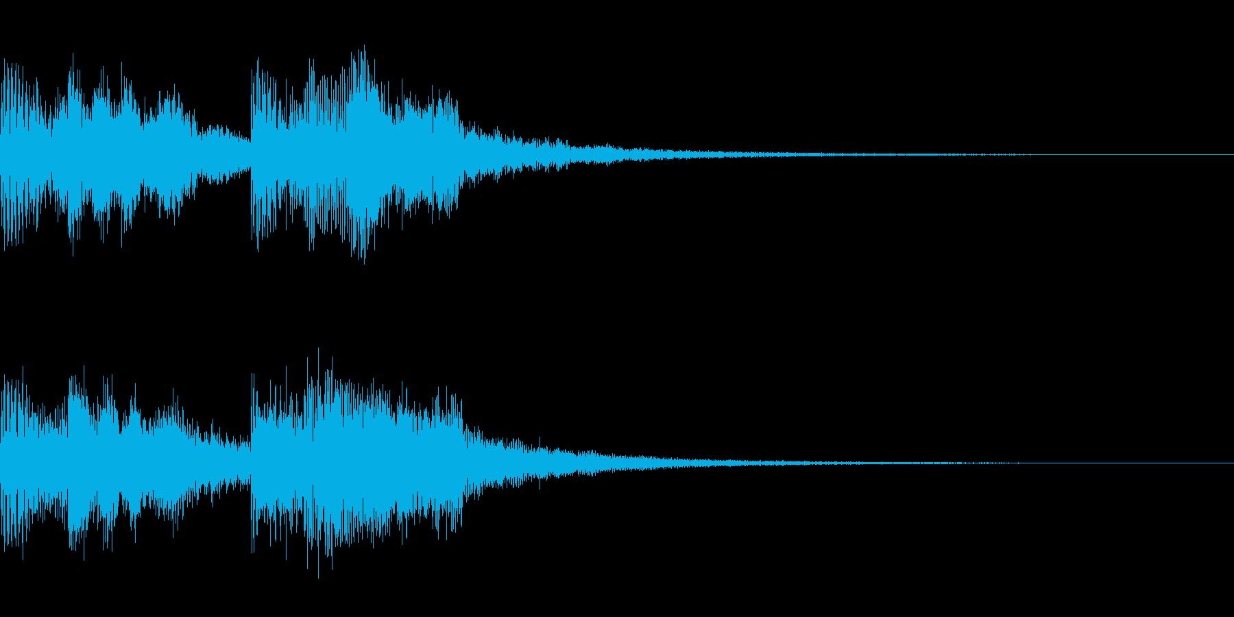 スペーシーな終わり方の再生済みの波形