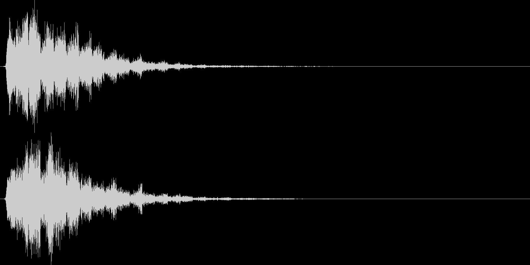 落ち系(クイズ、NG、ゲームオーバー)の未再生の波形