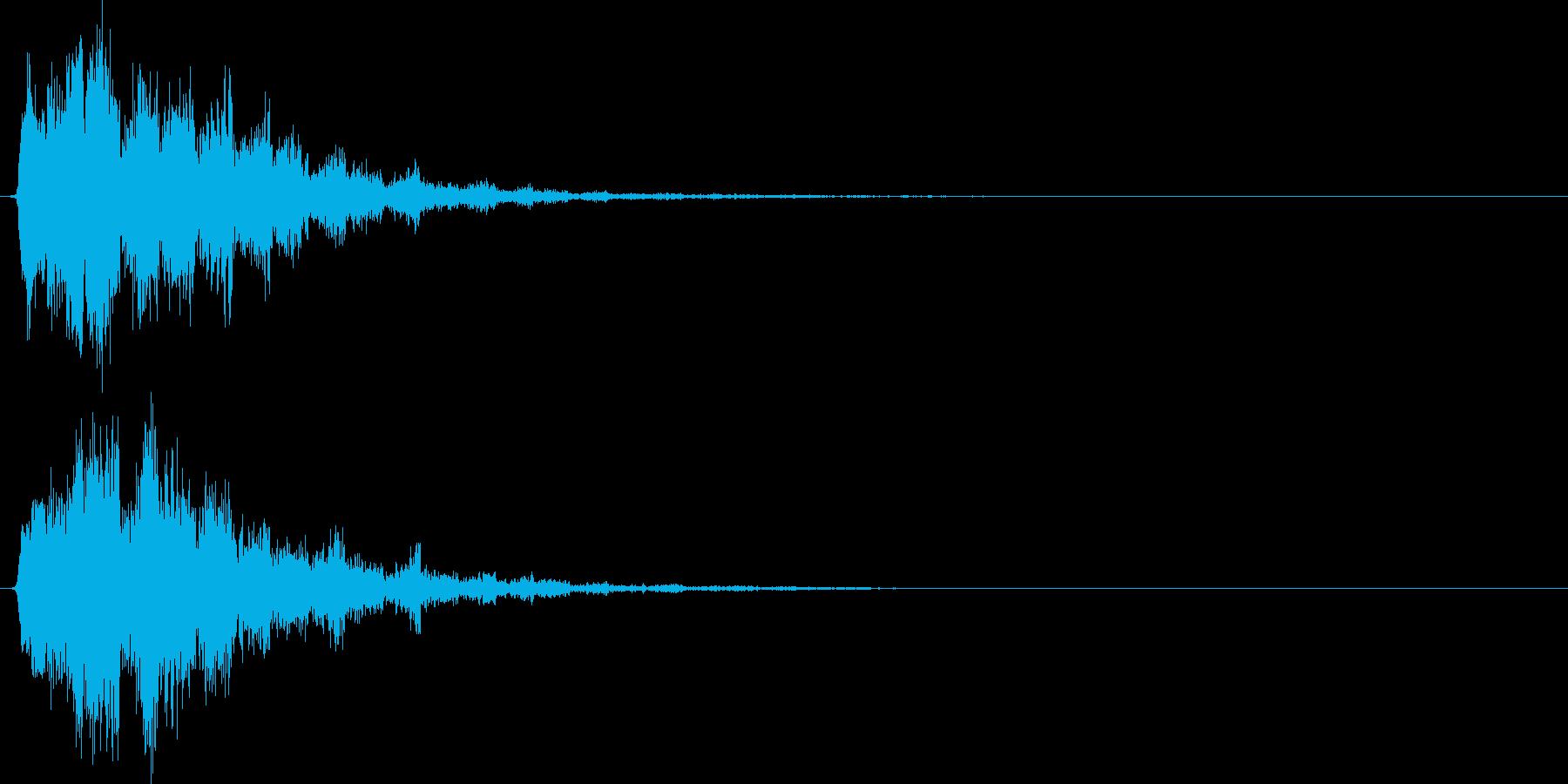 落ち系(クイズ、NG、ゲームオーバー)の再生済みの波形