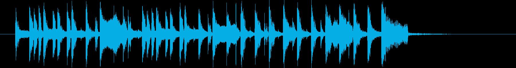 昭和のコント風BGMの再生済みの波形