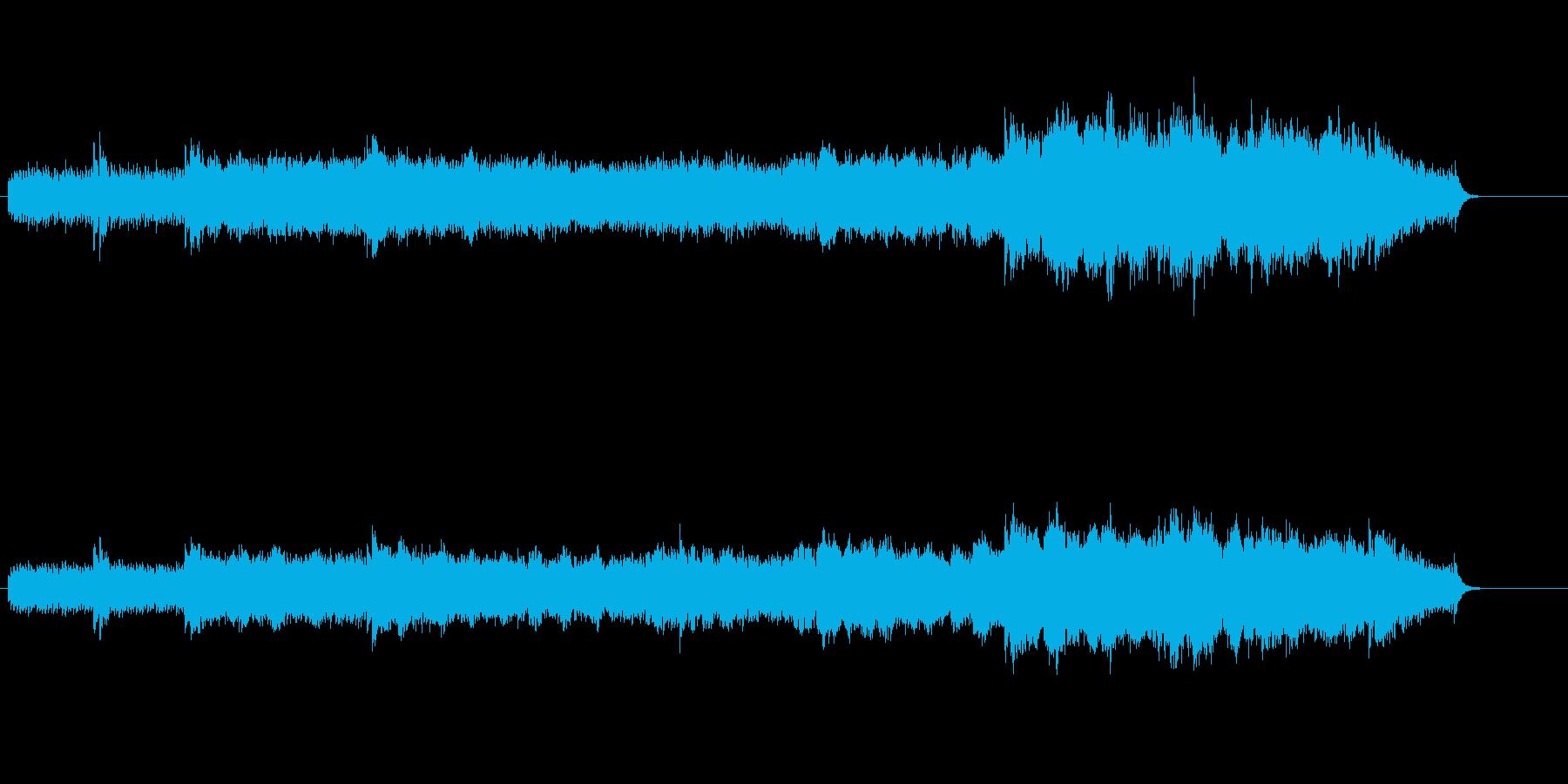 浮遊感を生み出すミュージックの再生済みの波形