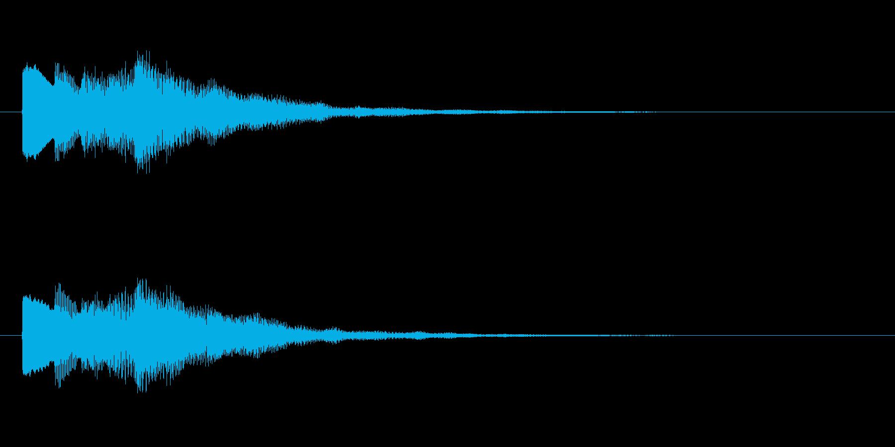 【チャイム 注意03-up1】の再生済みの波形