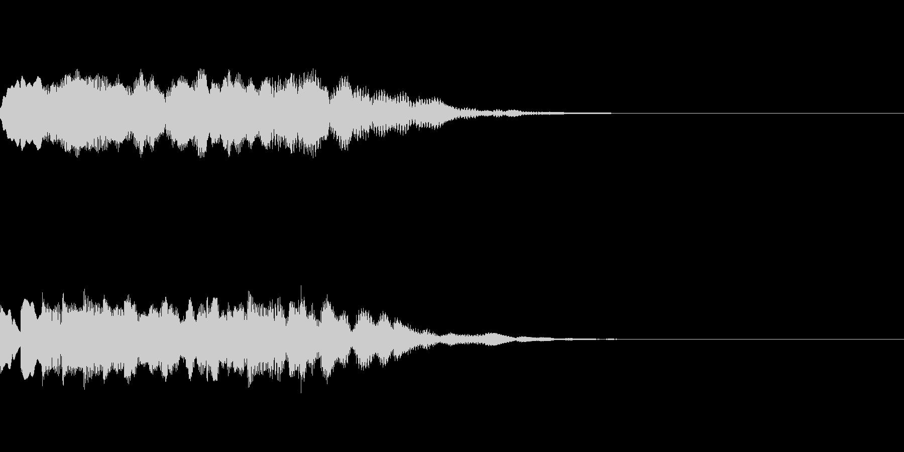 チャイム、起動音、爽やかの未再生の波形