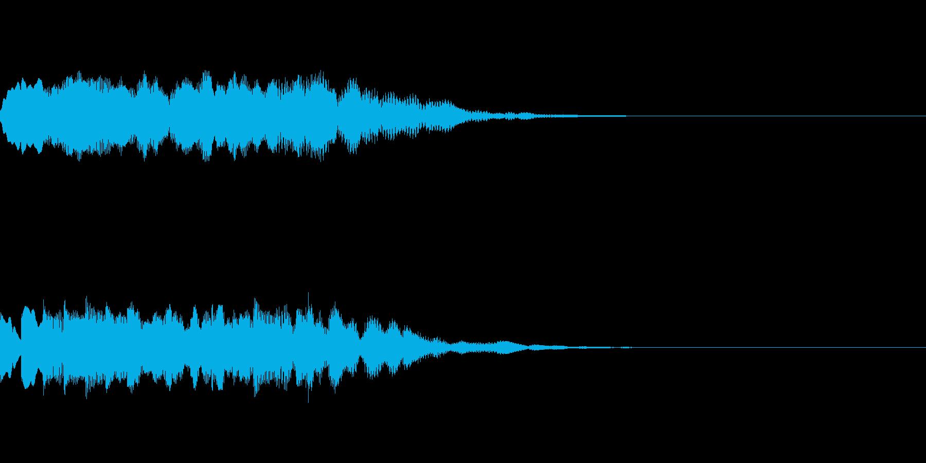チャイム、起動音、爽やかの再生済みの波形