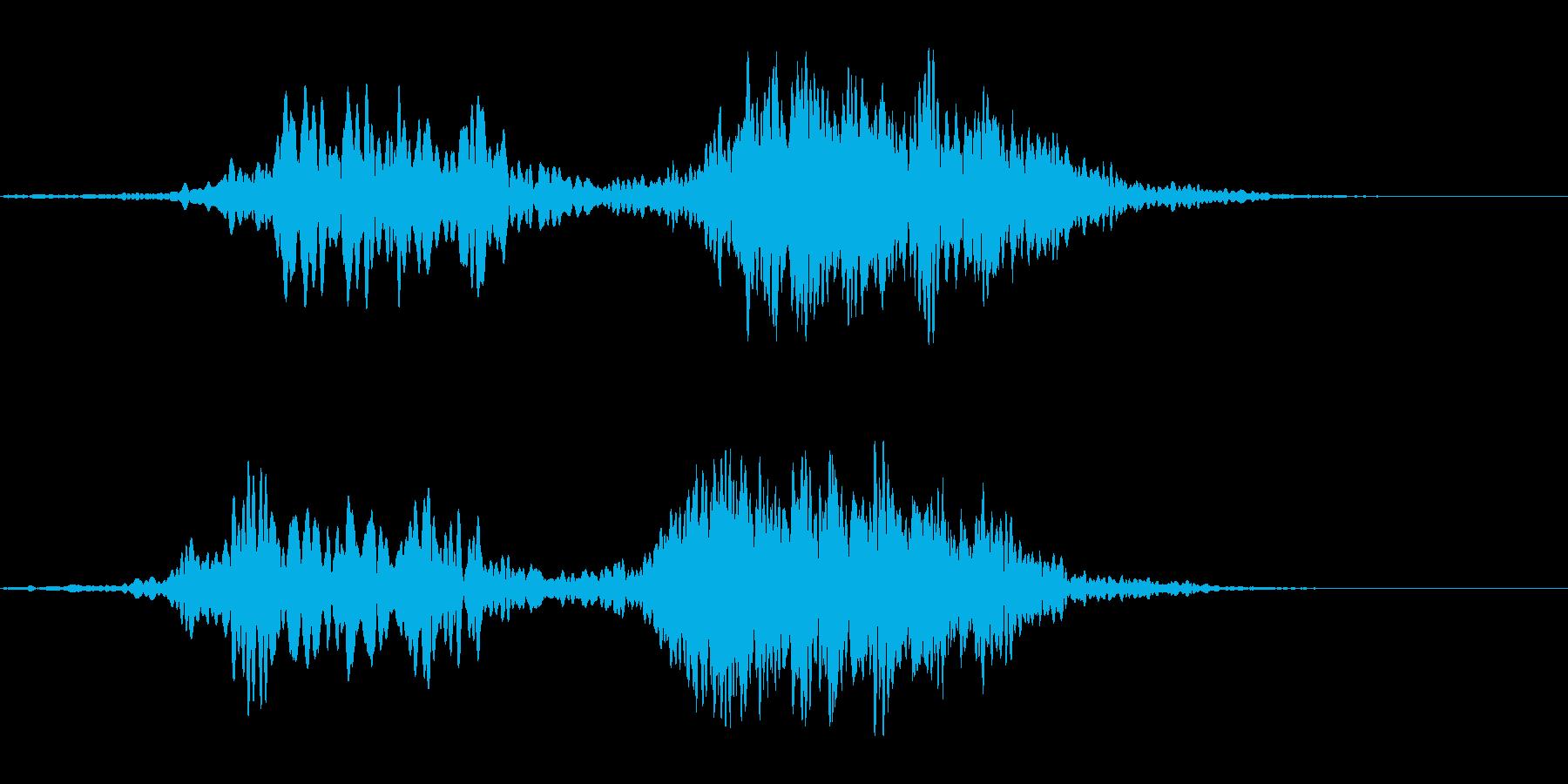キンと透き通った空気感の再生済みの波形