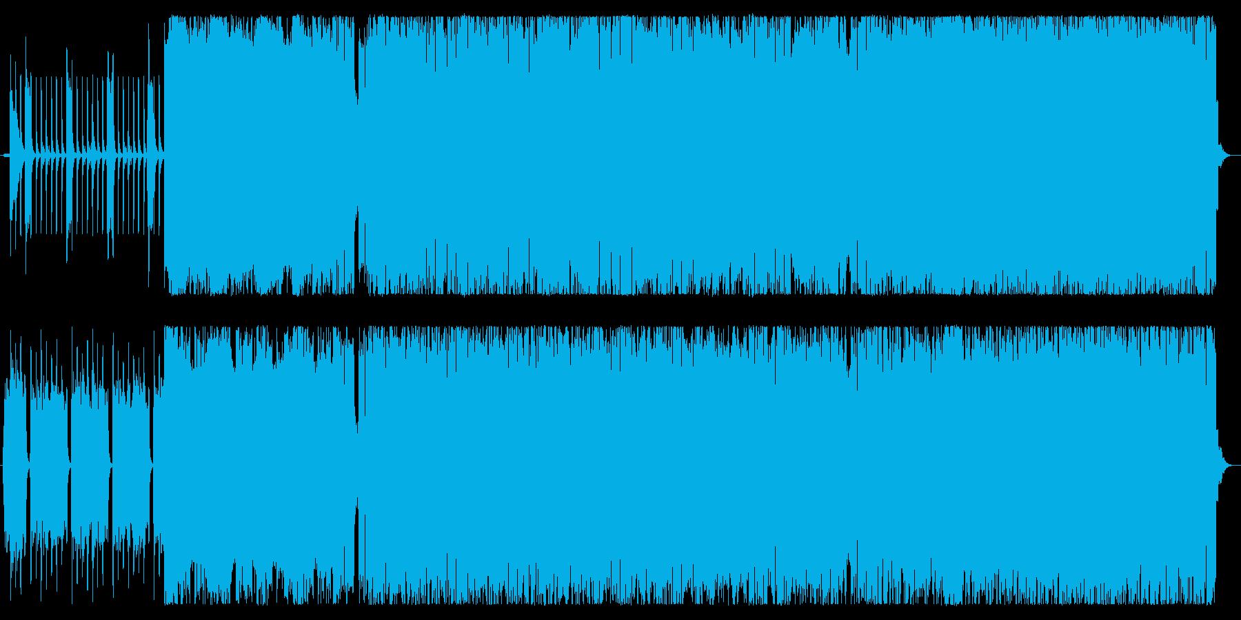 アラビア風ギターロックの再生済みの波形