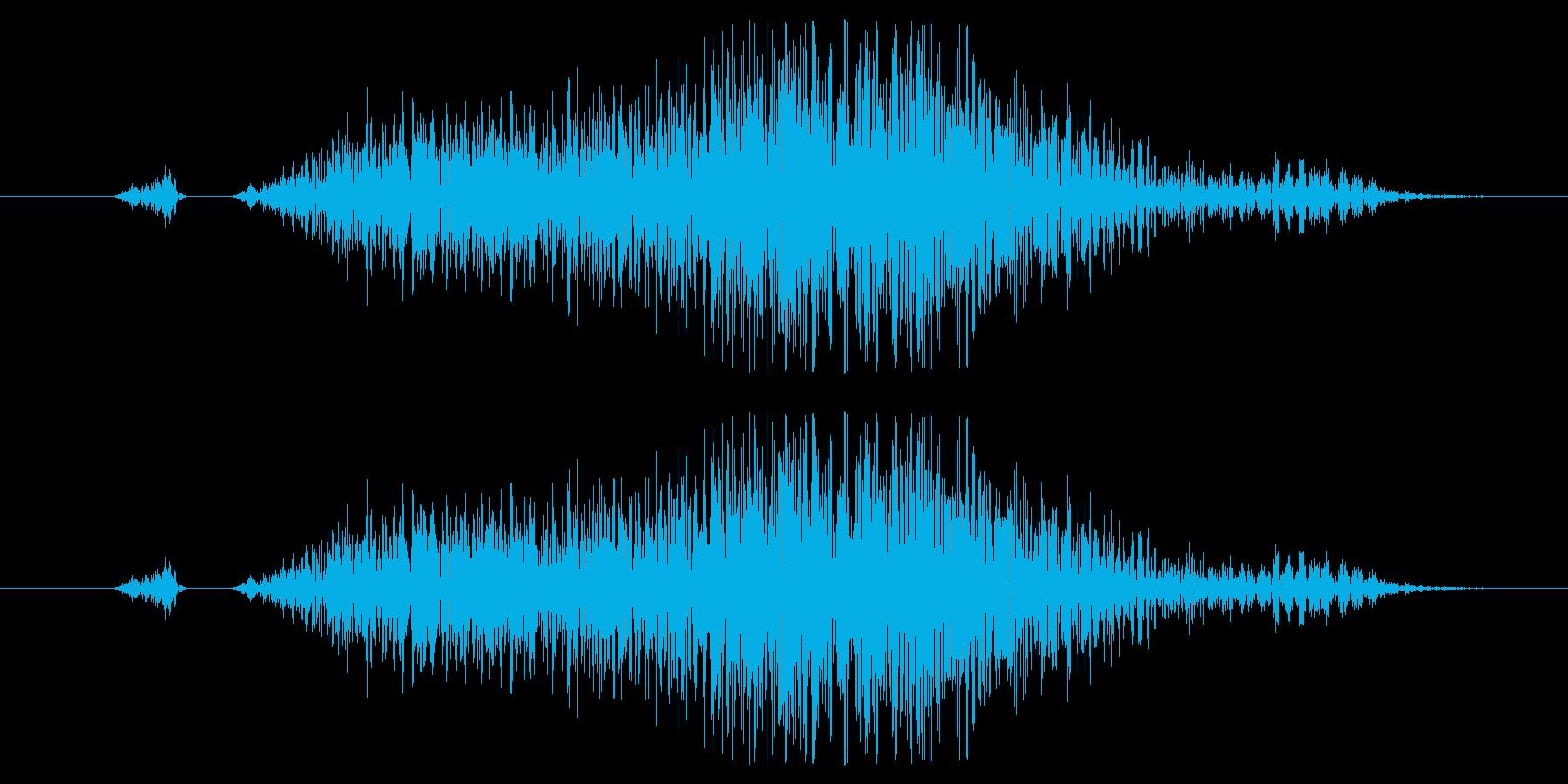 キャンセル、スワイプ効果音01の再生済みの波形