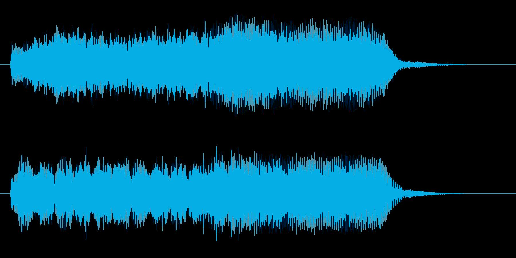 緩やかで幻想的なヒーリングジングルの再生済みの波形