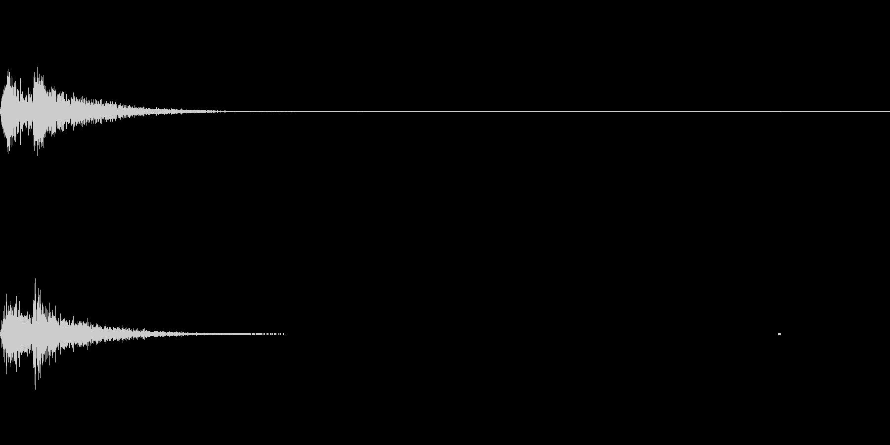 カカン 歌舞伎 附け板・附け木の未再生の波形