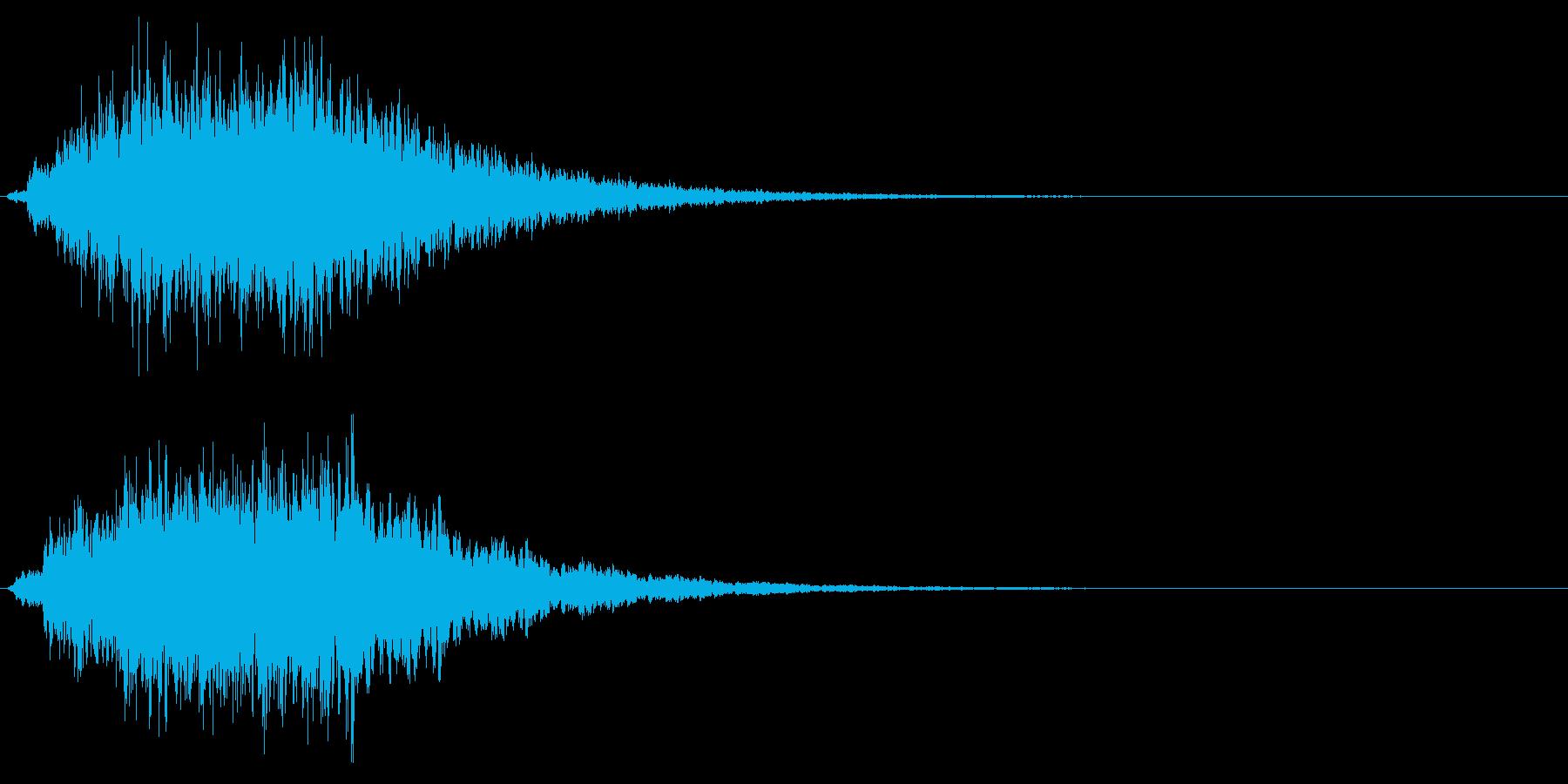 ホラーやサスペンス系の場面などのSEですの再生済みの波形