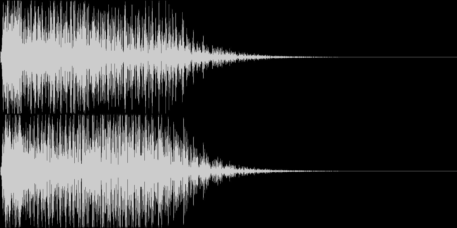 【ドスン】インパクトのある派手な衝撃音の未再生の波形