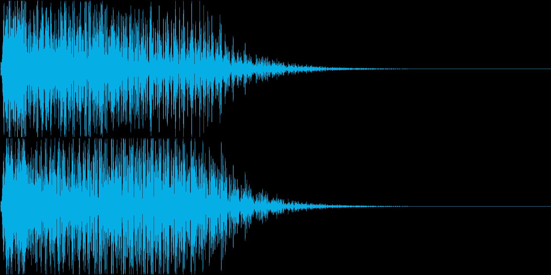 【ドスン】インパクトのある派手な衝撃音の再生済みの波形