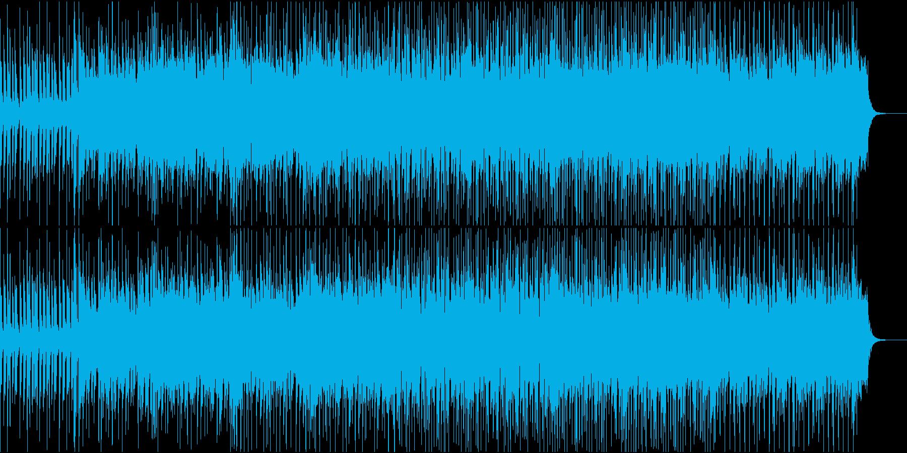 ひっそりとしたい時に聞くようなBGMの再生済みの波形