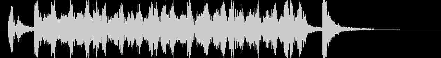 ポップな4つ打ち系ジングル(7秒版)の未再生の波形
