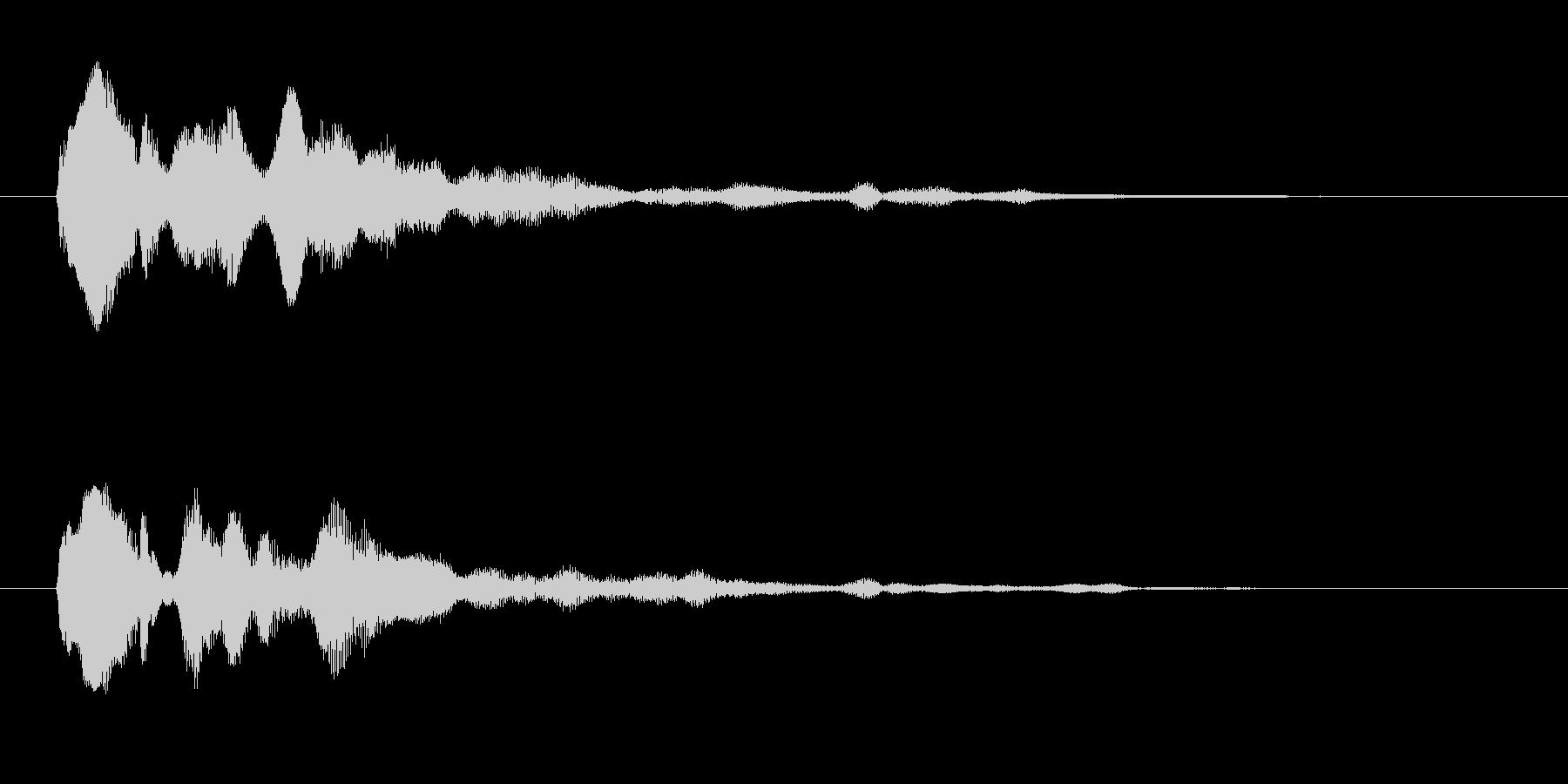 セレクト クールな決定音 通過 取得の未再生の波形