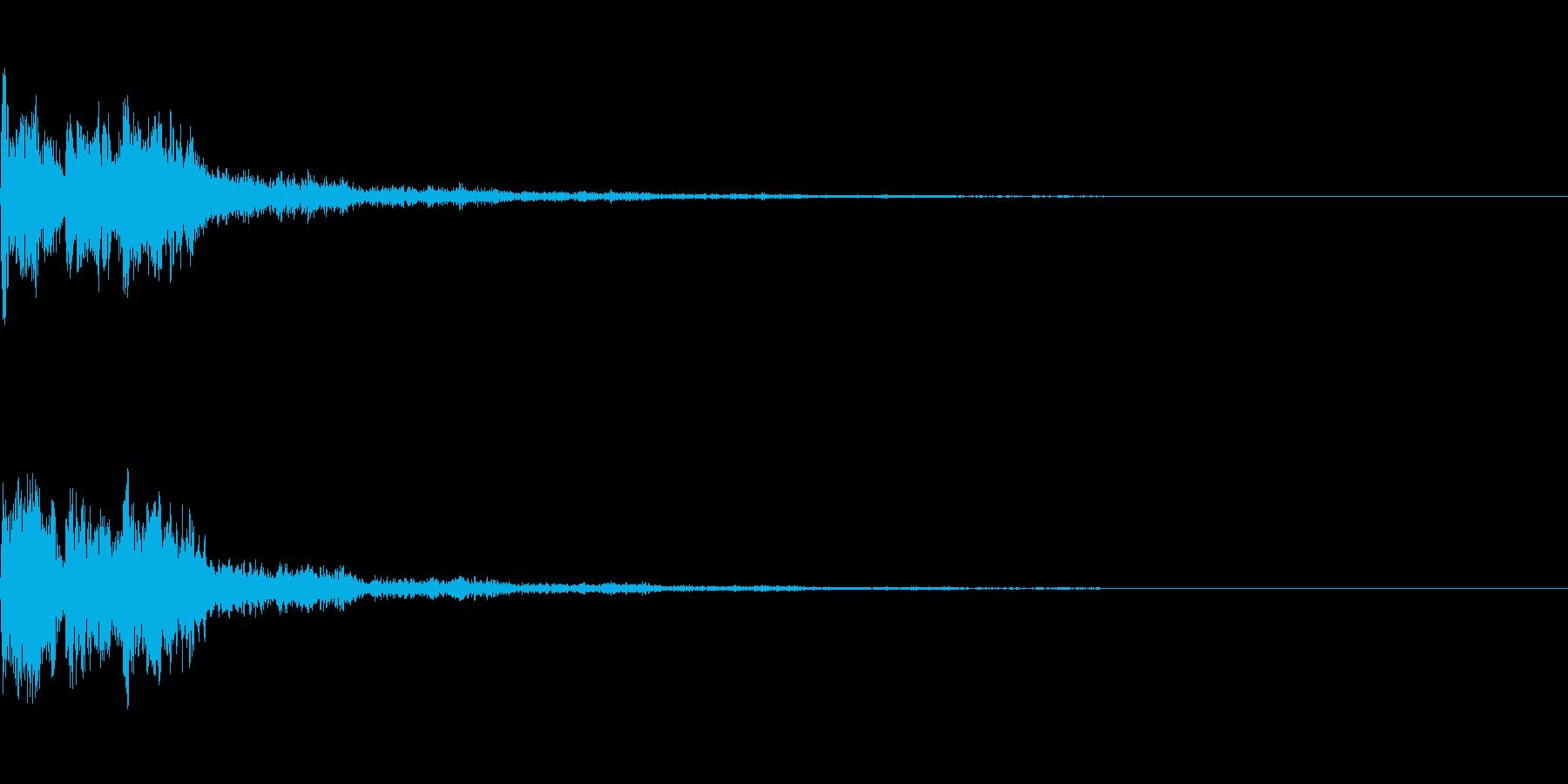 【SE 効果音】SF的な音11の再生済みの波形