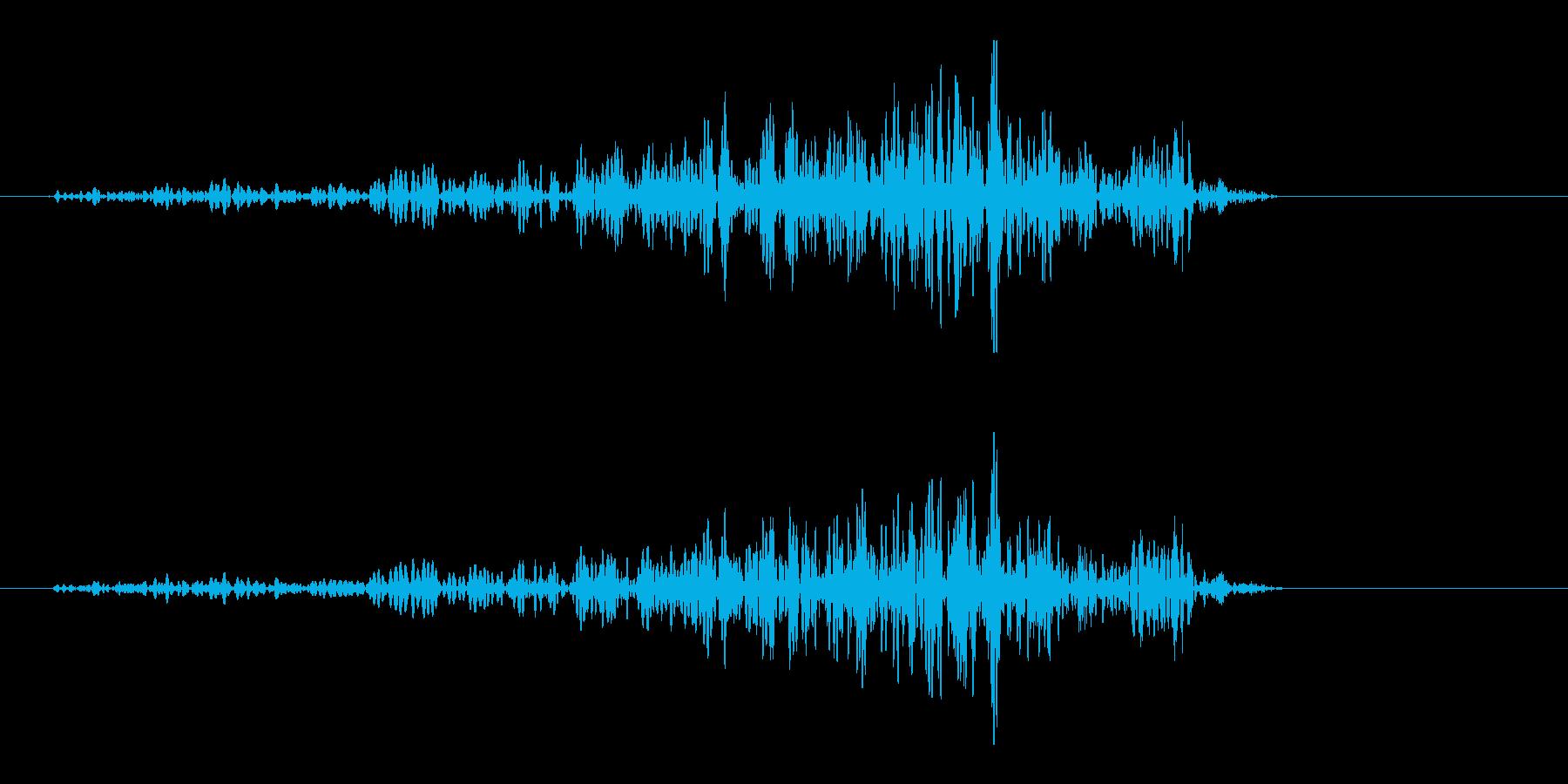 バットで素振りの風切り効果音(ヒュンッ)の再生済みの波形
