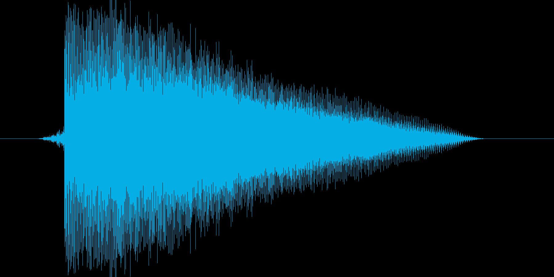 ゲーム(ファミコン風)レーザー音_001の再生済みの波形