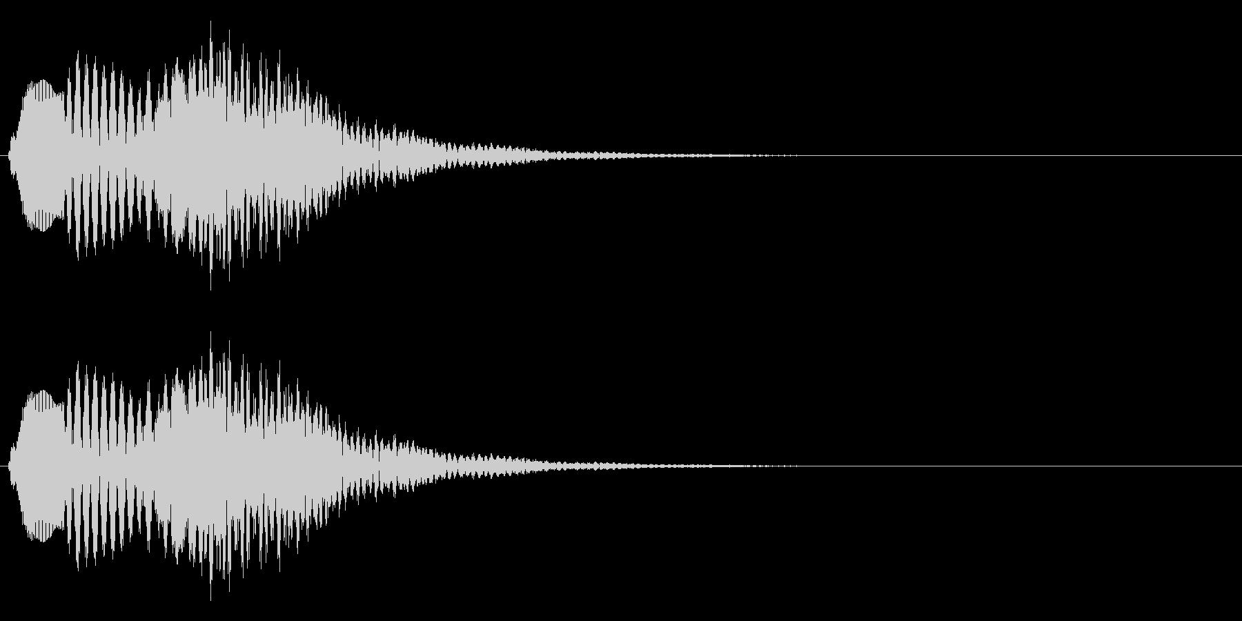 ポロポロンーの未再生の波形