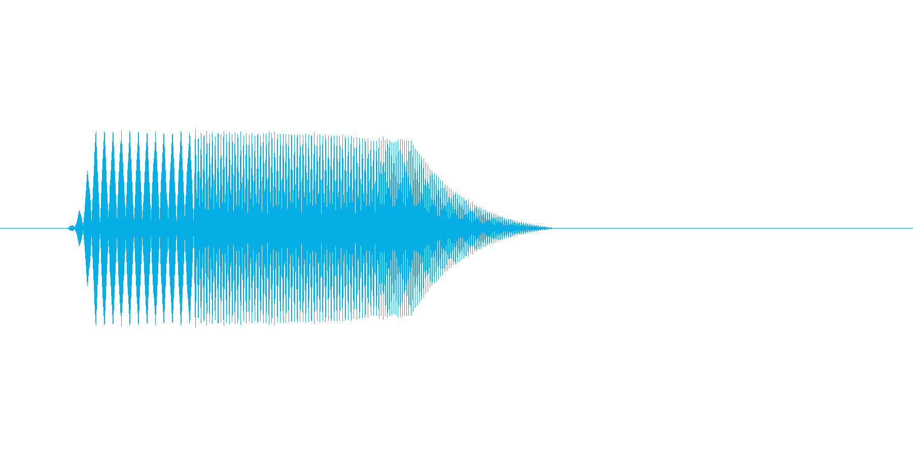 ファミコン風効果音決定音系です 08の再生済みの波形