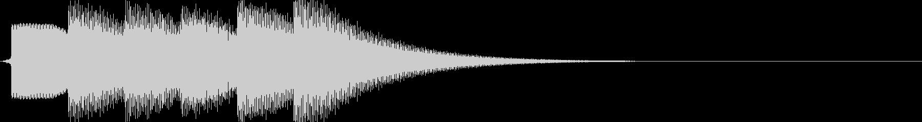 ピンポンピンポンピンポン(正解)の未再生の波形