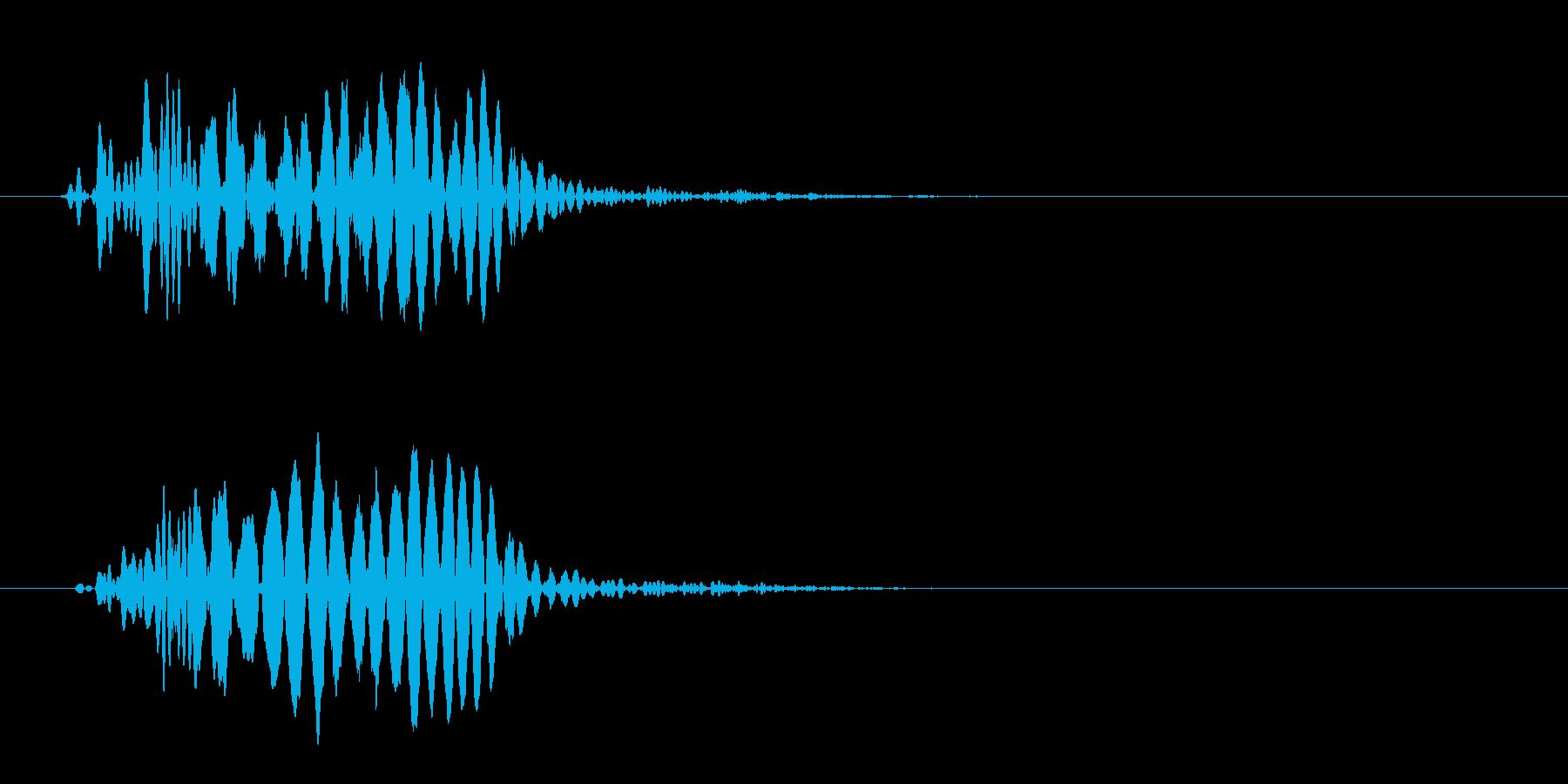 ドン(ジャンプした後に着地した音)の再生済みの波形