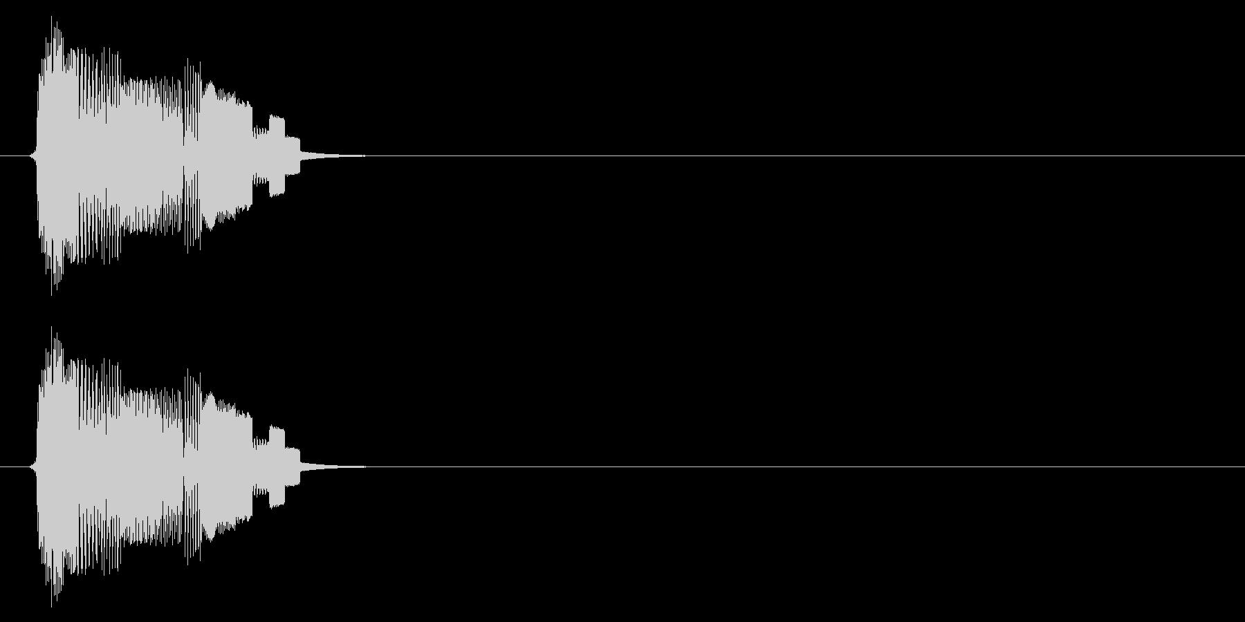 ボタン音(タッチ、スタート、アプリ)の未再生の波形
