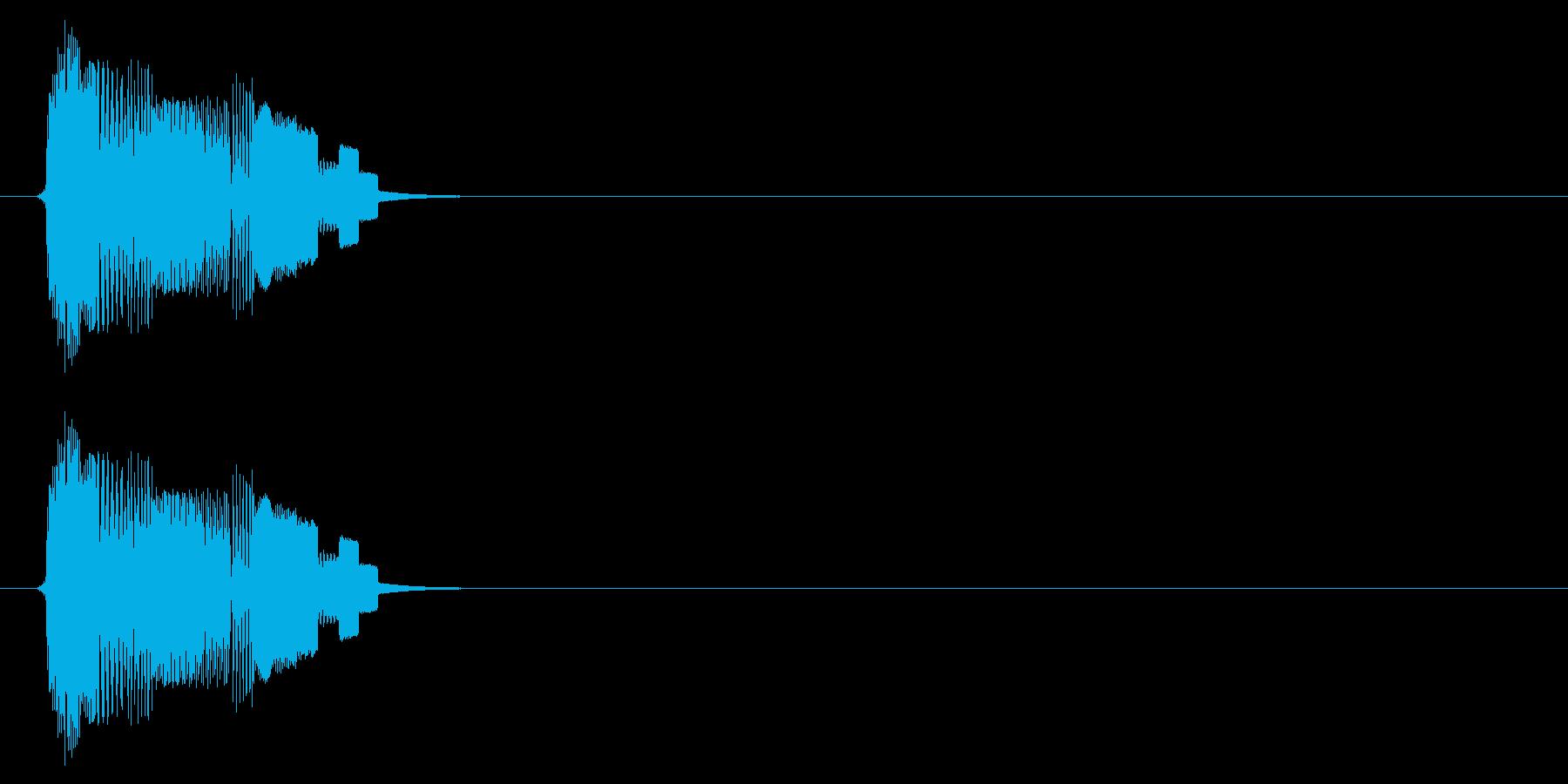 ボタン音(タッチ、スタート、アプリ)の再生済みの波形