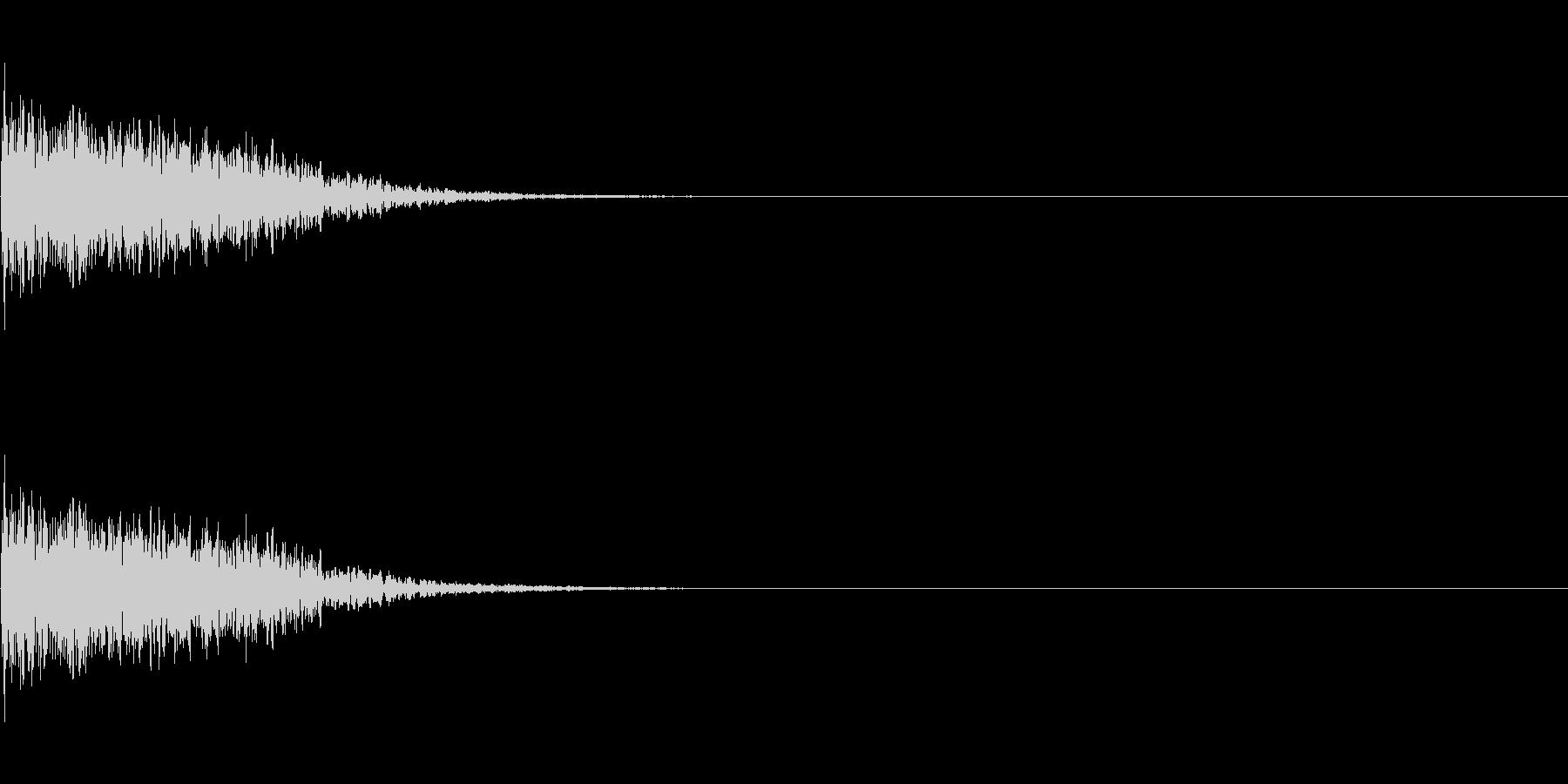 キーン(刀がぶつかり合う音)の未再生の波形