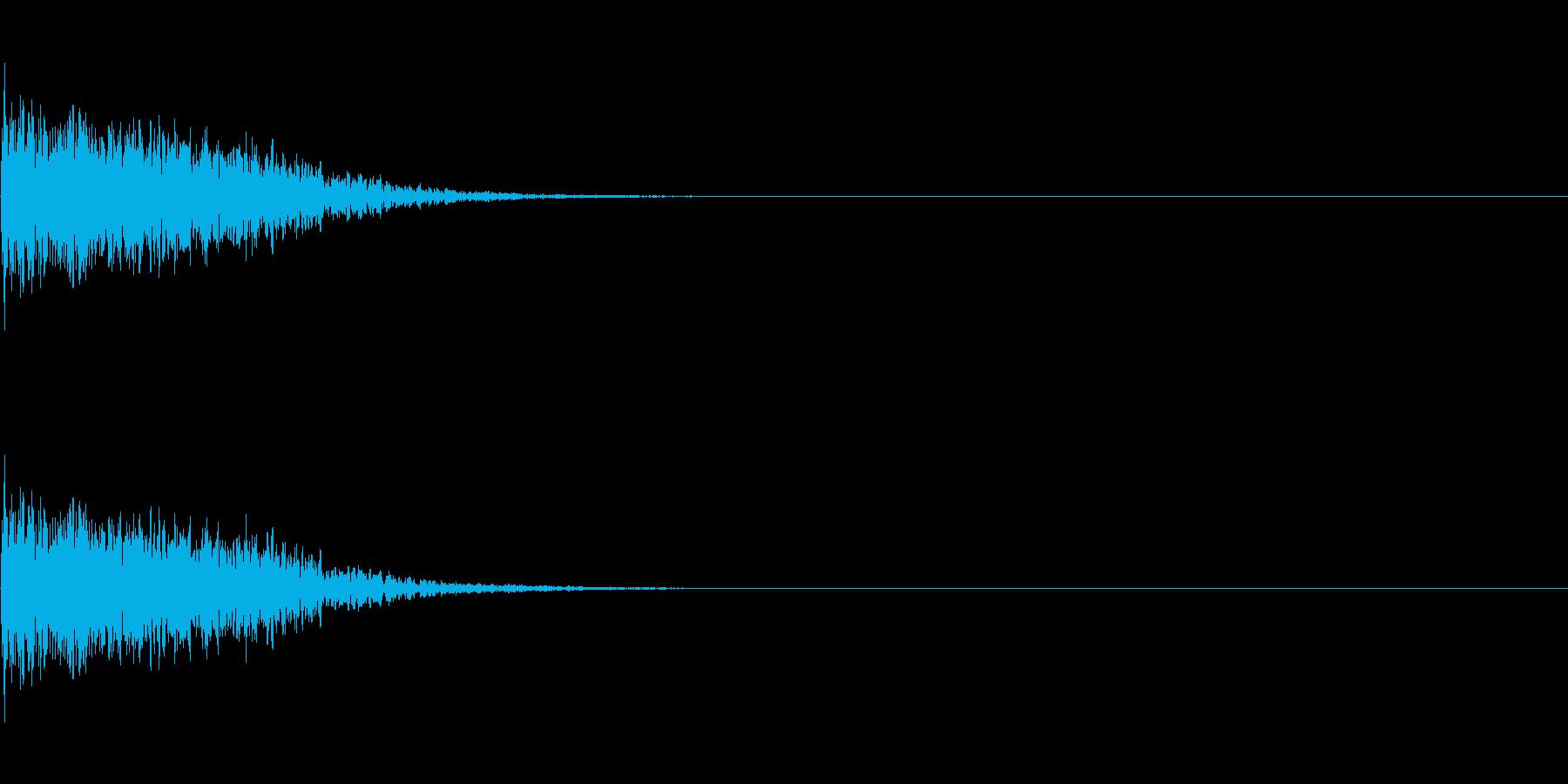 キーン(刀がぶつかり合う音)の再生済みの波形
