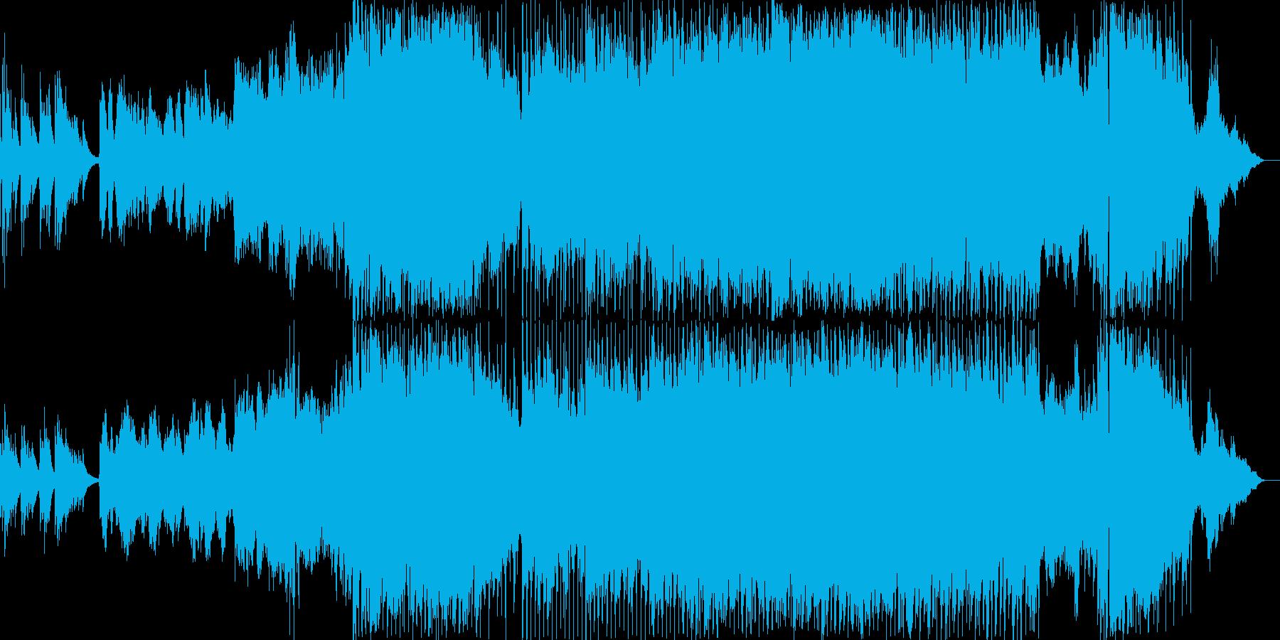 絶望的な雰囲気のマイナーバラードの再生済みの波形