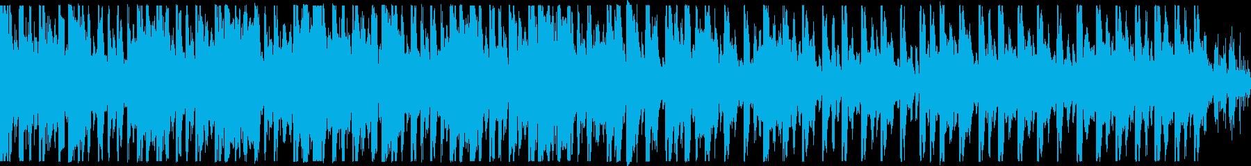 ループ、おしゃれ、ノリノリなBGMの再生済みの波形