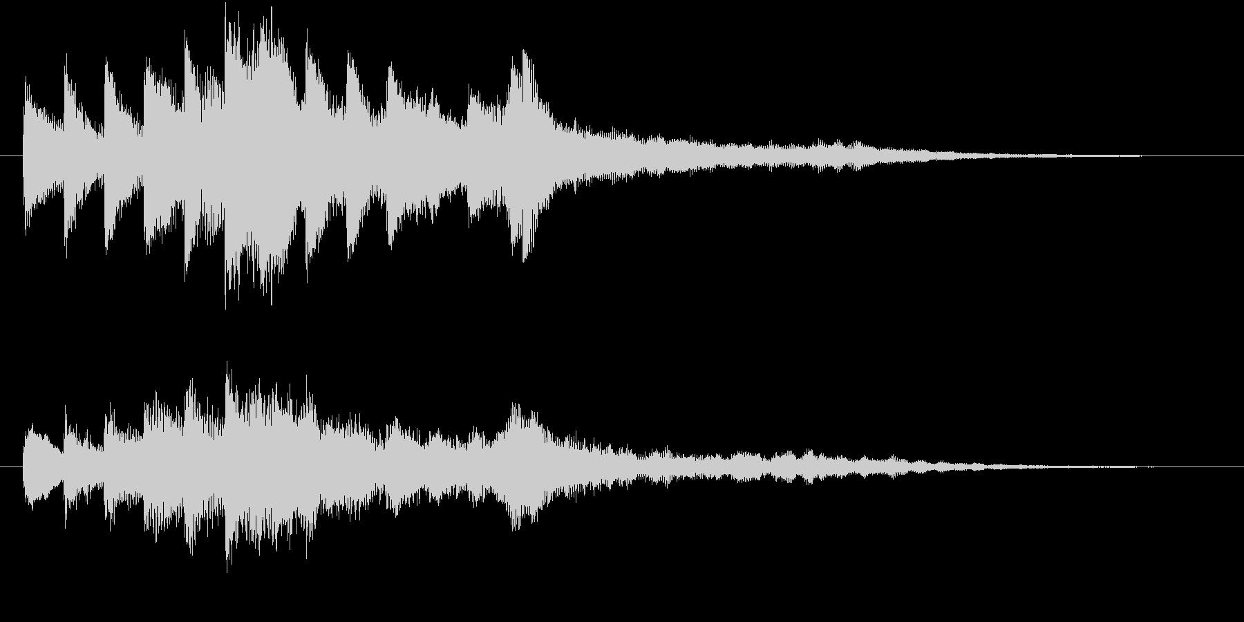 透明感のあるシンプルなサウンドロゴの未再生の波形