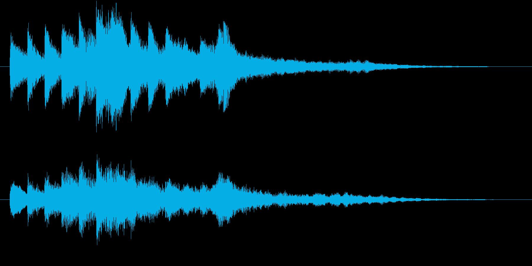 透明感のあるシンプルなサウンドロゴの再生済みの波形