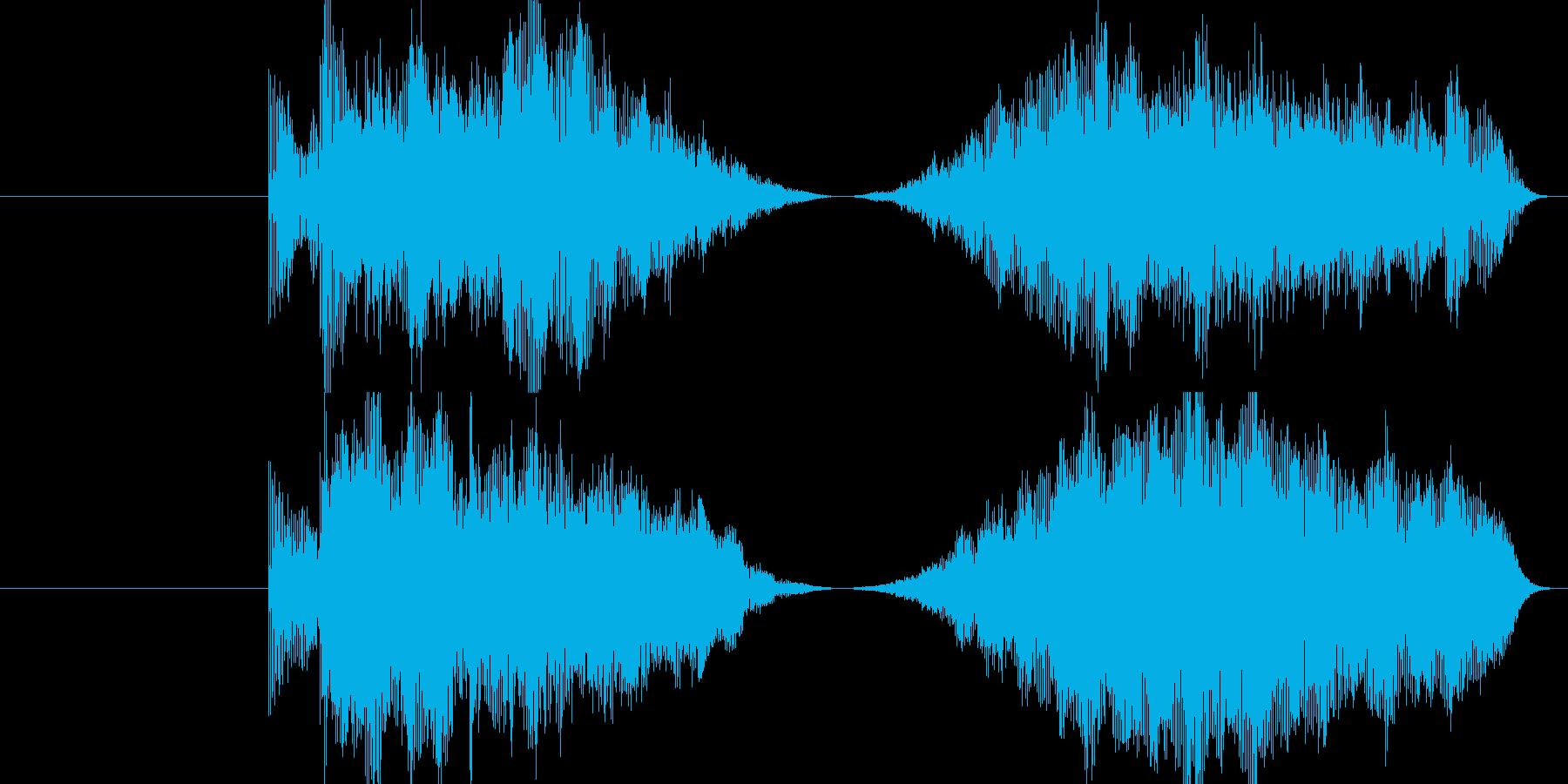 ワープ系の移動音の再生済みの波形