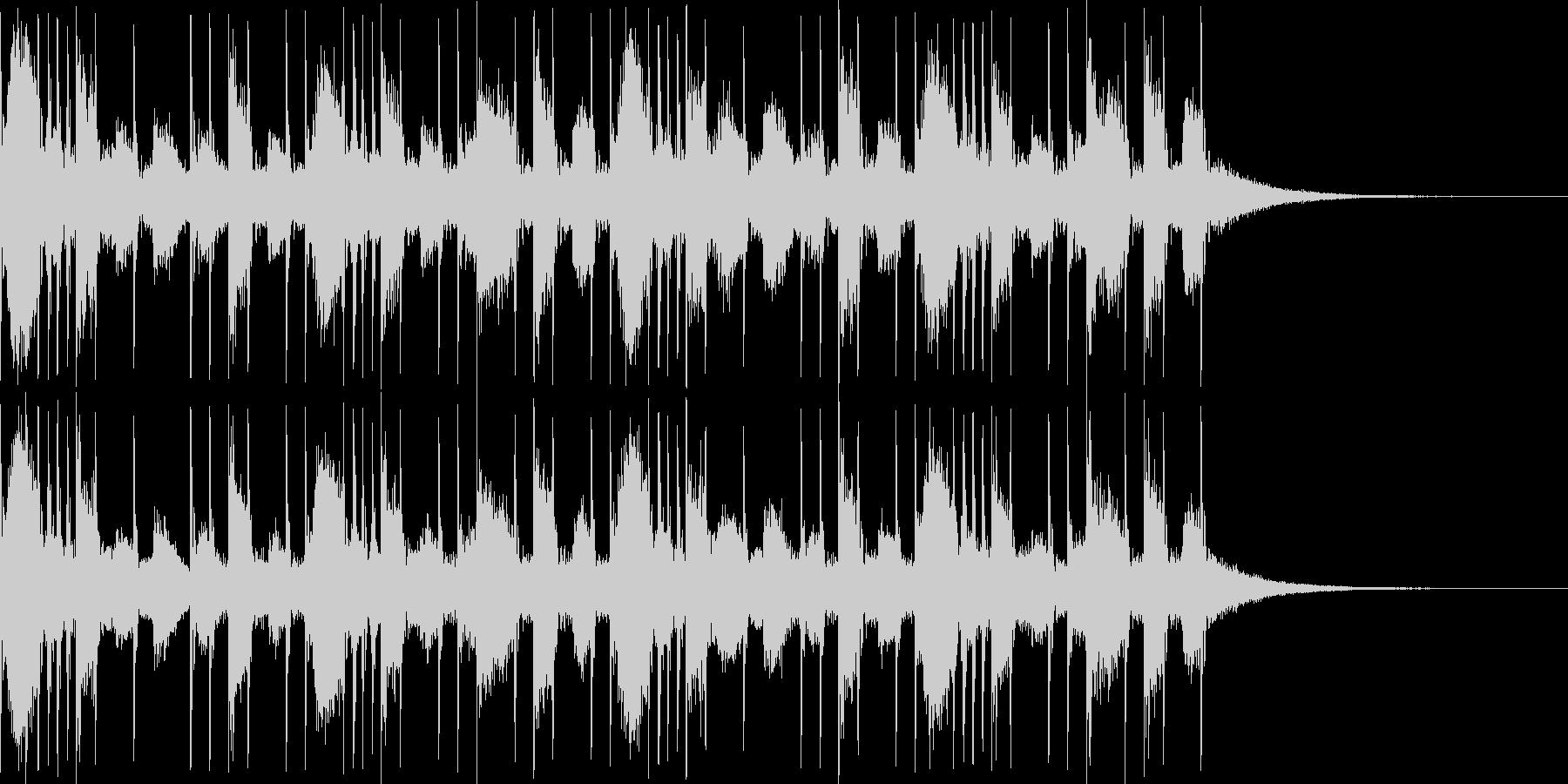 リアルなドラム2バス使用のリズムです。の未再生の波形