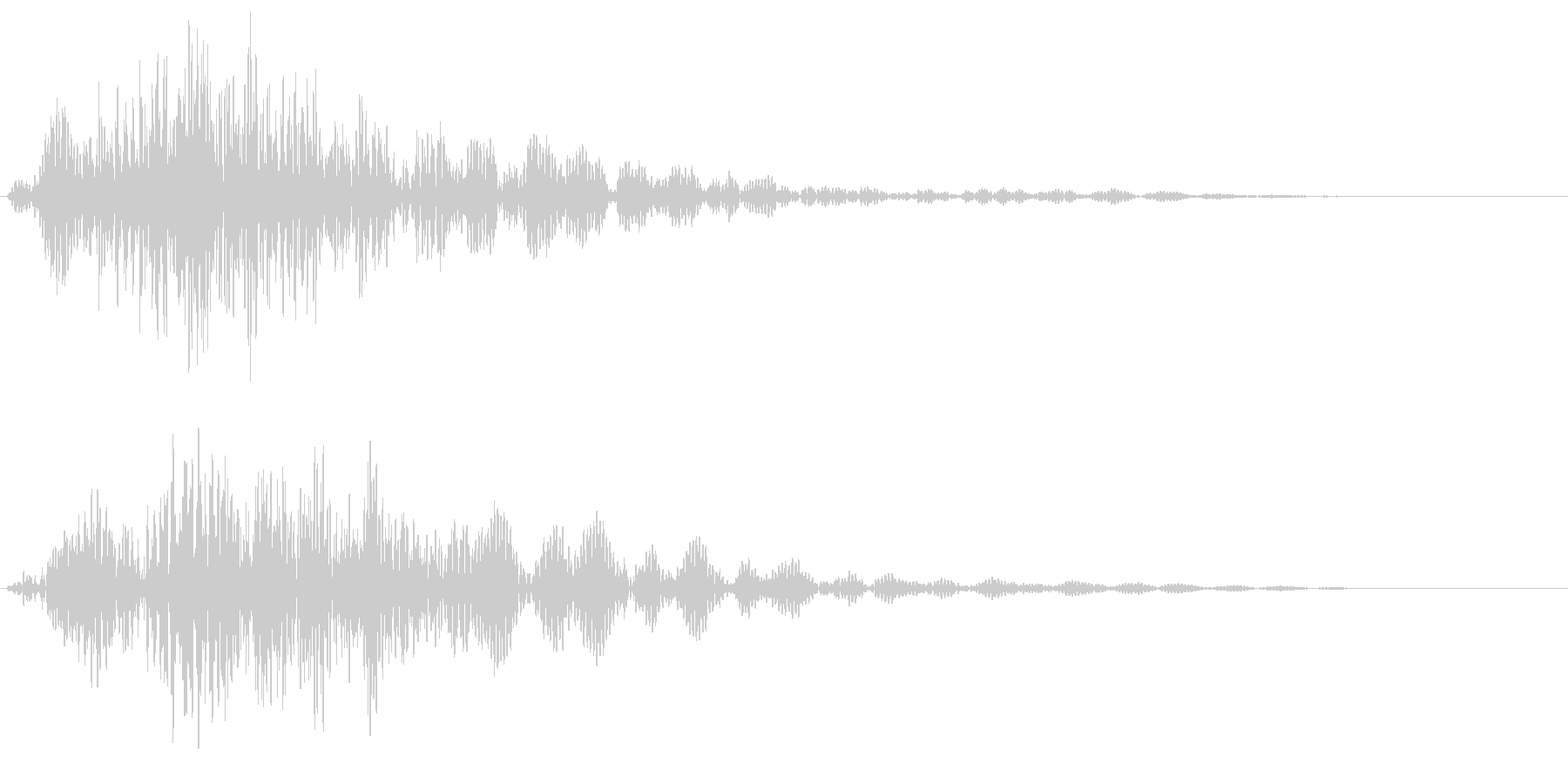 モンスターのため息(ブォー)の未再生の波形