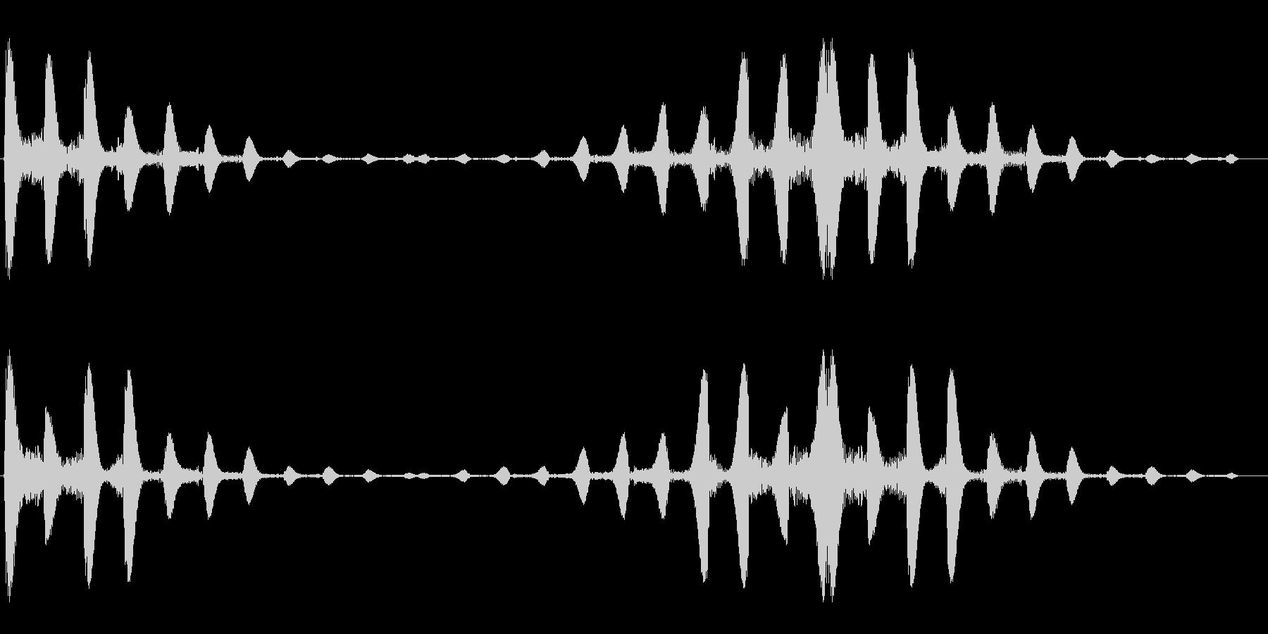 ポコポコ(水中の気泡を連想させる効果音)の未再生の波形